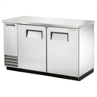 TRUE TBB-2-S back bar cooler with stainless steel exterior