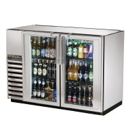TRUE TBB-24GAL-48G-S back bar compact cooler with stainless steel exterior and glass doors