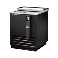TRUE TD-24-7 deep well horizontal bottle cooler with black vinyl exterior