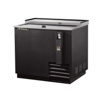 TRUE TD-36-12 deep well horizontal bottle cooler with black vinyl exterior