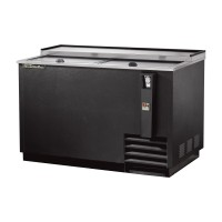TRUE TD-50-18 deep well horizontal bottle cooler with black vinyl exterior