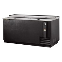 TRUE TD-65-24 deep well horizontal bottle cooler with black vinyl exterior