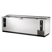 TRUE TD-95-38-S deep well horizontal bottle cooler with stainless steel exterior