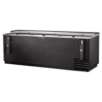 TRUE TD-95-38 deep well horizontal bottle cooler with black vinyl exterior