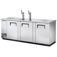 TRUE TDD-4-S direct draw beer dispenser with stainless steel exterior