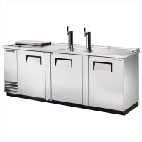TRUE TDD-4CT-S club top direct draw beer dispenser with stainless steel exterior