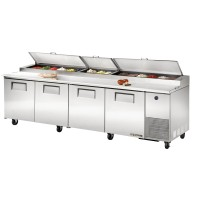 TRUE TPP-119 pizza prep table refrigerator