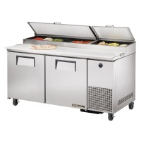 TRUE TPP-67 pizza prep table refrigerator