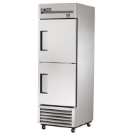 TRUE TS-23-2 reach-in refrigerator, two stainless steel half doors