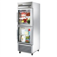 TRUE TS-23G-2 reach-in refrigerator, two glass half doors