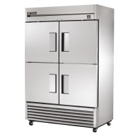 TRUE TS-49-4 reach-in refrigerator, four stainless steel half doors