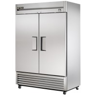 TRUE TS-49 reach-in refrigerator, two stainless steel doors