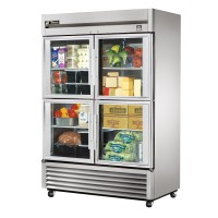 TRUE TS-49G-4 reach-in refrigerator, four glass half doors
