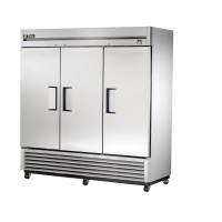 TRUE TS-72F reach-in freezer, three stainless steel doors