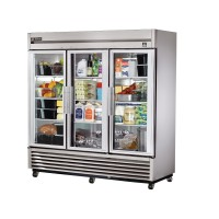 TRUE TS-72G reach-in refrigerator, three glass doors