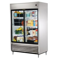 TRUE TSD-47G slide door reach-in refrigerator, two glass doors