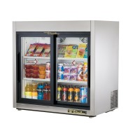 TRUE TSD-9G slide door reach-in refrigerator, two glass doors