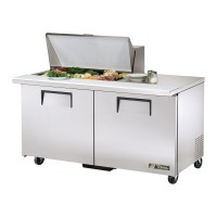 TRUE TSSU-60-15M-B sandwich or salad unit mega-top refrigerator