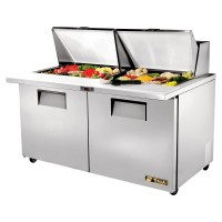 TRUE TSSU-60-24M-B-ST sandwich or salad unit mega-top refrigerator