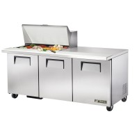 TRUE TSSU-72-15M-B sandwich or salad unit mega-top refrigerator