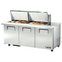 TRUE TSSU-72-24M-B-ST sandwich or salad unit mega-top refrigerator