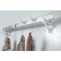 Italmodular wall-mounted hooked bar