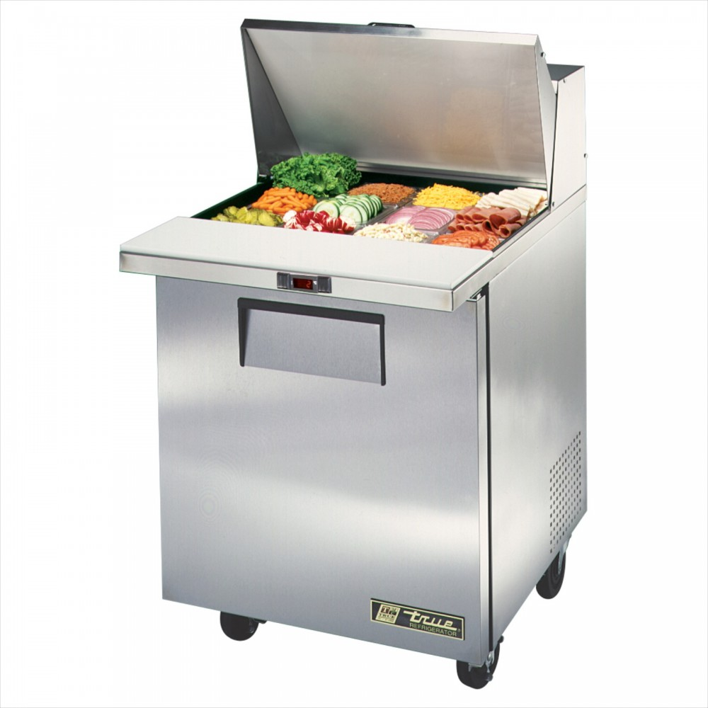 True TSSUMC Onedoor Sandwich Prep Table Megatop Refrigerator - True refrigerated prep table