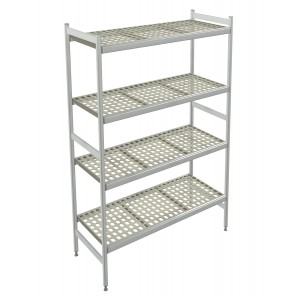 Italmodular 4 tier storage shelving 1304x373mm