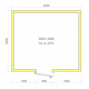 100mm walk in cold room with floor 3200mm x 2800mm x 2215mmh