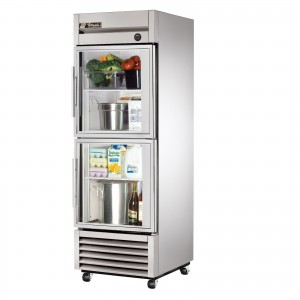 True T-23G-2 single half glass door commercial refrigerator