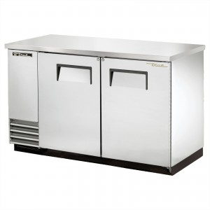 True TBB-2-S back bar cooler with solid stainless steel doors