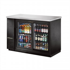 True TBB-24-48G-SD back bar cooler with glass slide doors