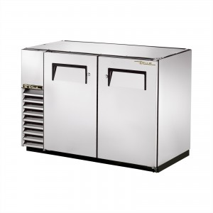 True TBB-24GAL-48-S back bar cooler with solid stainless steel doors