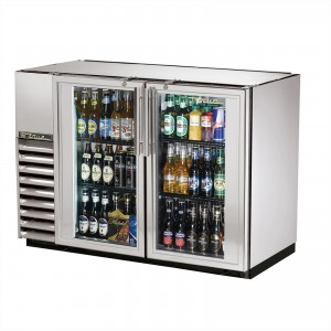 True TBB-24GAL-48G-S back bar cooler with stainless steel glass doors