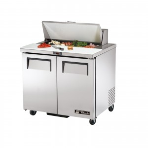 True TSSU-36-8 two-door sandwich prep table refrigerator