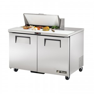 True TSSU-48-8 two-door sandwich prep table refrigerator