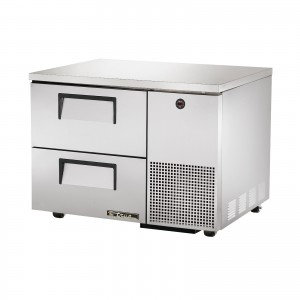 True TUC-44D-2 two-drawer deep under counter prep table refrigerator