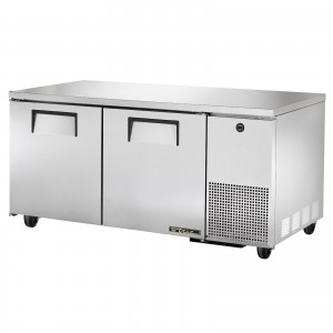 True TUC-67 two-door deep under counter prep table refrigerator
