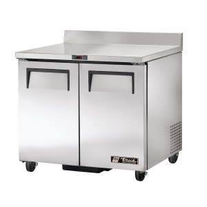 True TWT-36 two-door worktop prep table refrigerator