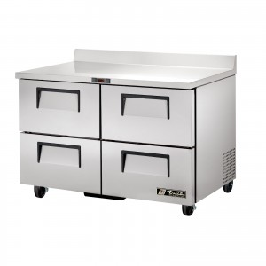 True TWT-48D-4 four-drawer worktop prep table refrigerator