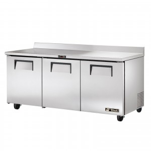True TWT-72 three-door worktop prep table refrigerator
