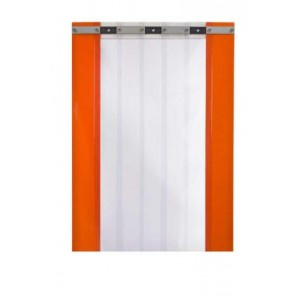 1400mm x 2000mmh fixed strip curtain for freezer room