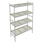 Italmodular 4 tier storage shelving 862x373mm