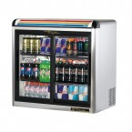 True GDM-9E-S back bar cooler with sliding glass doors