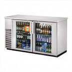 True TBB-24-60G-S back bar cooler with stainless steel glass doors