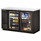 True TBB-2G back bar cooler with glass doors