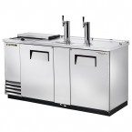 True TDD-3CT-S club top stainless steel direct draw beer dispenser