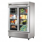 True TS-49G double glass door commercial refrigerator