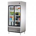 True TSD-33G double glass slide door commercial refrigerator