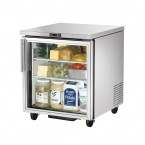 True TUC-27G one glass door under counter prep table refrigerator